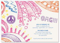 Omg Cake Candles Birthday Invitation Examples