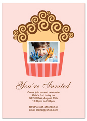 Pink Cupcakes First Birthday Invitation Examples