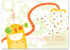 Candy Machine Party Birthday Invitation Samples