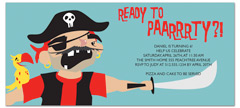 Pirate Party For Kids Birthday Invitation Wording