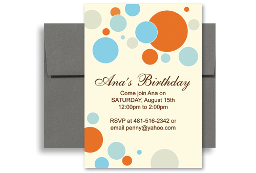 ... Colorful Kids Microsoft Word Birthday Invitation 5x7 in. Vertical